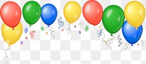 Carnival - Party Balloon Birthday Confetti Clip Art PNG