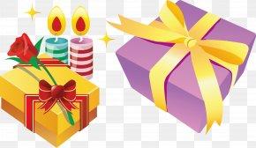 Candle Gift Box - Gift Box Christmas Adobe Illustrator PNG