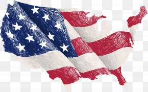 Vector Hand Painted American Flag - Flag Of The United States Map PNG