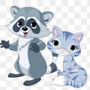 Cartoon Beaver Material Downloaded - Raccoon Cartoon Illustration PNG