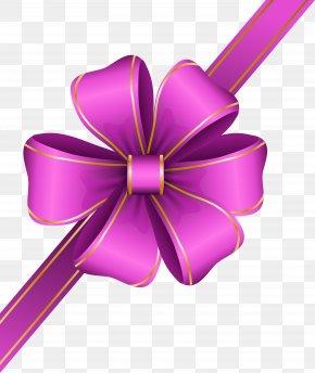 Decorative Pink Bow Corner Transparent Clip Art Image - Ribbon Clip Art PNG