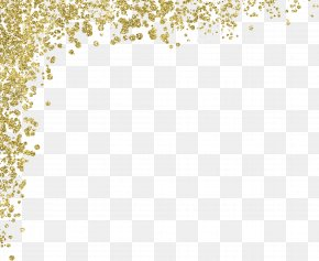 Gold - Gold Glitter Material PNG
