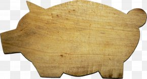 Pig Shape Cutting Board Material Free To Pull - Domestic Pig Cutting Board Shape Wood PNG