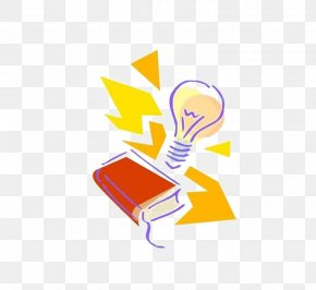 Lit Yellow Light Bulb - Incandescent Light Bulb Lamp Invention PNG