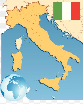 Map Of Europe And Italy - Italy Balkans PNG