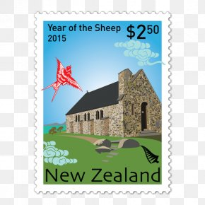 Chinese New Year - Papercutting Postage Stamps Chinese New Year Goat PNG