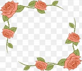 Hand Painted Rose Flower Rattan - Beach Rose Flower Euclidean Vector Clip Art PNG