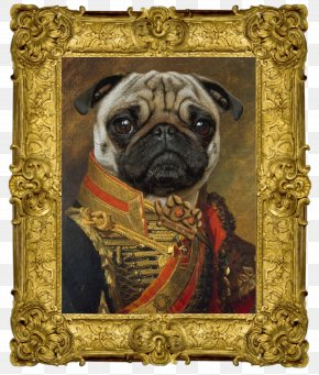 Pug Art - Pug Dog Breed Design By Humans Toy Dog Snout PNG
