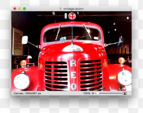 Retro Effect - Car Truck Fire Engine Firefighter Vehicle PNG