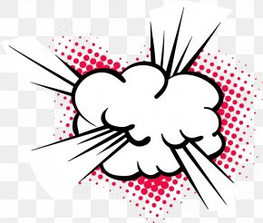 Vector Cloud Comics Explosion - Explosion Cartoon Clip Art PNG