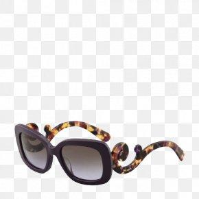 Retro Pattern Temple Glasses - Goggles Sunglasses Prada Fashion PNG