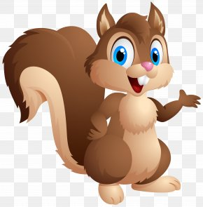 Cute Squirrel Cartoon Clipart Image - Chipmunk Cartoon Eastern Gray Squirrel Clip Art PNG