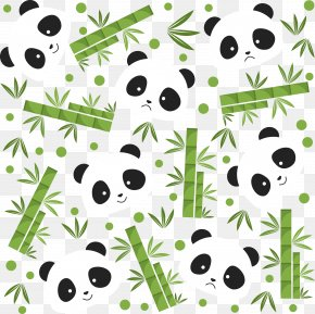 Green Bamboo And Panda - Giant Panda Bear Bamboo Icon PNG