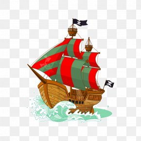 Pirate Ship - Paper Piracy Boat Sticker Ship PNG