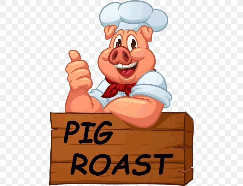 Pig Roast Roasting Barbecue Roast Chicken, PNG, 489x628px, Pig Roast, American Legion, Baked Beans, Barbecue, Cartoon Download Free