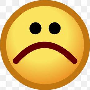 Symbol For Sad Face - Club Penguin Emoticon Smiley Clip Art PNG