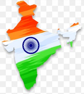 Vector Map Of India With Indian Falun - Flag Of India Indian Independence Movement Indian Independence Day PNG