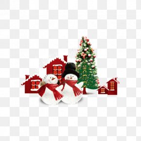 Christmas Tree Snowman Material Download - Christmas Ornament Christmas Tree Snowman PNG