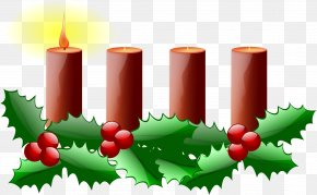 Green Week Cliparts - Advent Wreath Advent Candle Advent Sunday Clip Art PNG