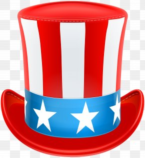 USA Patriotic Hat Clip Art Image - Uncle Sam United States Top Hat PNG