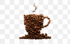 Beans Put Into A Coffee Cup PNG