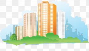 Vector City High-rise Residential - Building House Gratis Apartment PNG