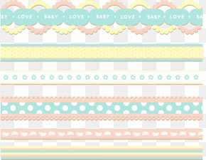 Ribbon Element Vector Painted Baby - Paper Green Area Pattern PNG