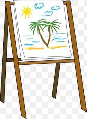 Easel Cliparts - Easel Art Painting Clip Art PNG