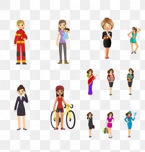 Creative Women Of Different Professions - Profession Job Illustration PNG