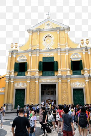 Macau Church - St. Dominics Church, Macau Senado Square Ruins Of St. Pauls Cathedral Of The Nativity Of Our Lady, Macau Holy House Of Mercy PNG