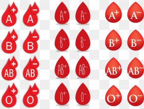 Vector Illustration Water Drop Red Blood Type - Blood Type Blood Donation PNG