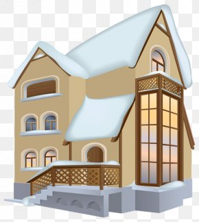 European-style Hand-painted Snow House - House Winter Clip Art PNG