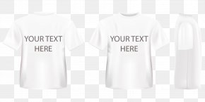 Three Dimensional White T-shirt Vector - T-shirt Logo Sleeve Font PNG