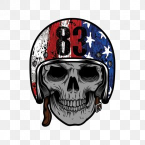United States - Flag Of The United States Skull Clip Art PNG