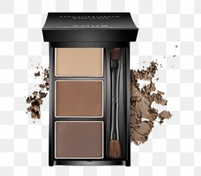 Three Grid Eyebrow Powder Box Makeup - Cosmetics Eyebrow Make-up Permanent Makeup PNG