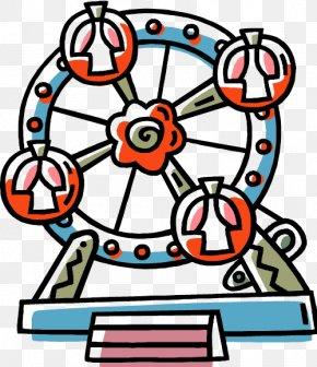 Carnival Wheel - State Fair Ferris Wheel Clip Art PNG