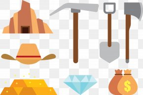 Digging Tool - Tool Gold Mining Icon PNG