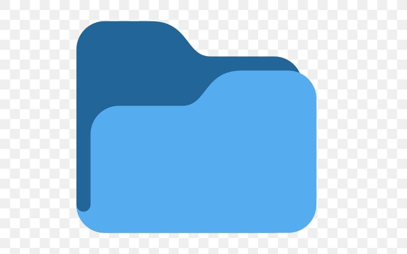 Emoji Computer File Directory File Folders, PNG, 512x512px, Emoji, Aqua, Blue, Directory, Electric Blue Download Free