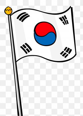 Hand Painted Korean Flag - Flag Of South Korea Stock Photography PNG