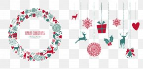 Christmas Garland And Ornaments - Mistletoe Christmas Decoration Christmas Ornament Christmas Tree PNG