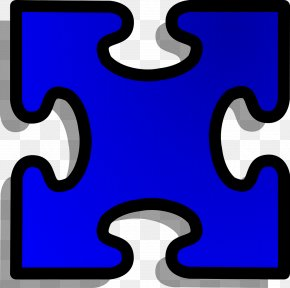 Symbol Number - Jigsaw Puzzle Electric Blue Line Material Property Number PNG