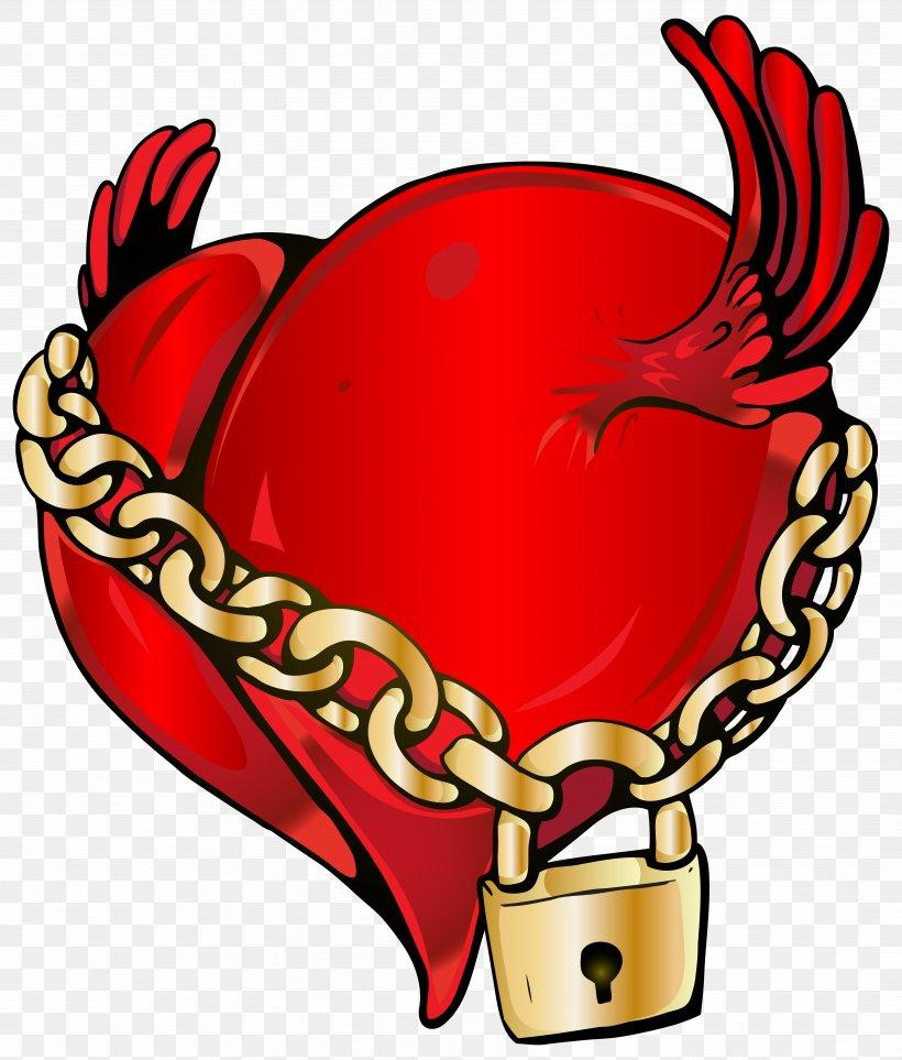 Locked Heart Clip Art, PNG, 6812x8000px, Watercolor, Cartoon, Flower, Frame, Heart Download Free