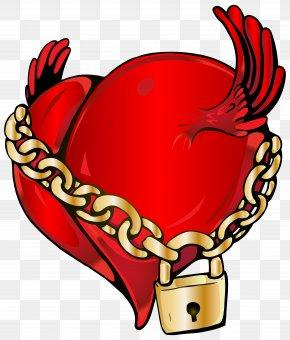Locked Heart Clip Art Image - Locked Heart Clip Art PNG