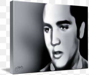 ELVIS - Monochrome Photography Black And White Portrait PNG