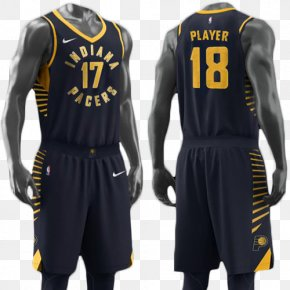 Basketball Uniform - Indiana Pacers NBA Uniform Jersey Swingman PNG