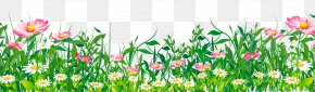 Grass With Flowers Clipart - Flower Clip Art PNG