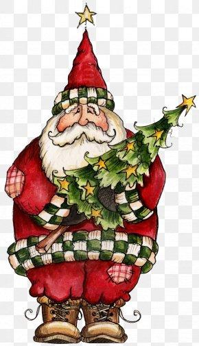 Santa Claus - Santa Claus Christmas Full-Color Holiday Vignettes Clip Art PNG