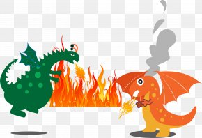 Two Fire Dragon - Dragon Charizard Clip Art PNG