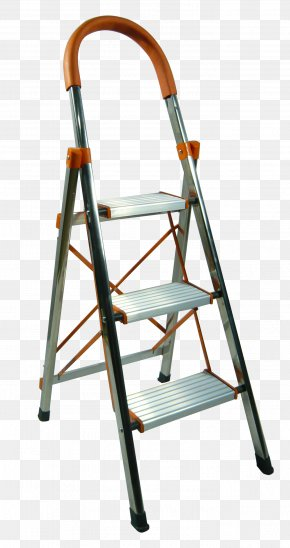 Simple Stairs - Ladder Stairs Aluminium Computer File PNG