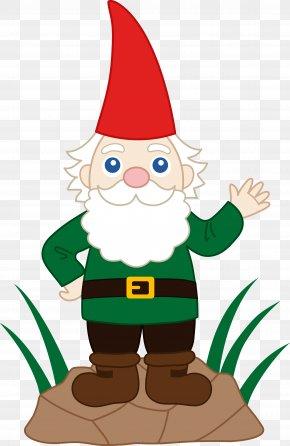 Cute Garden Cliparts - Garden Gnome Dwarf Elf Clip Art PNG